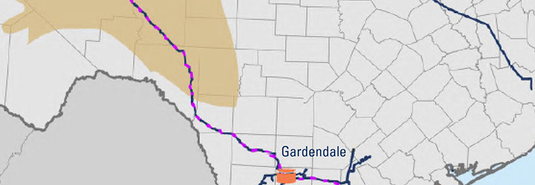 Map of Permian Projects